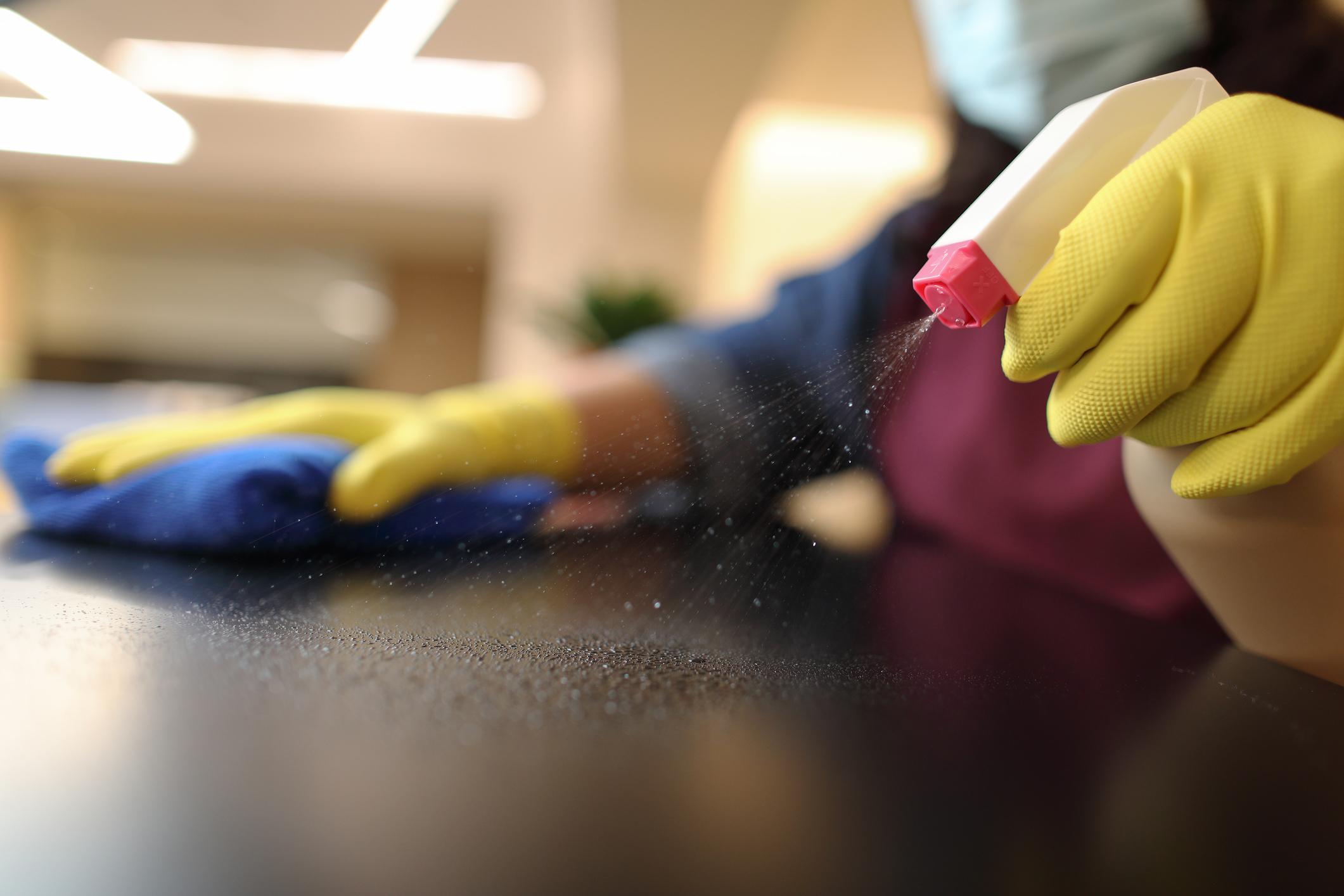 Preparaty i akcesoria stosowane w pracach porządkowych